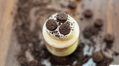 Smoothie με μπισκότο και παγωτό, αντί για επιδόρπιο
