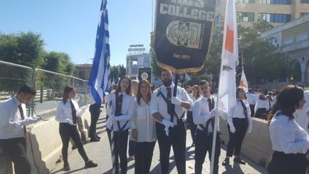 Το KES College τίμησε την επέτειο του ηρωικού «ΟΧΙ» με τη συμμετοχή των φοιτητών του στην παρέλαση της 28ης Οκτωβρίου