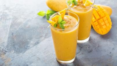 Δροσιστικό smoothie με μάνγκο