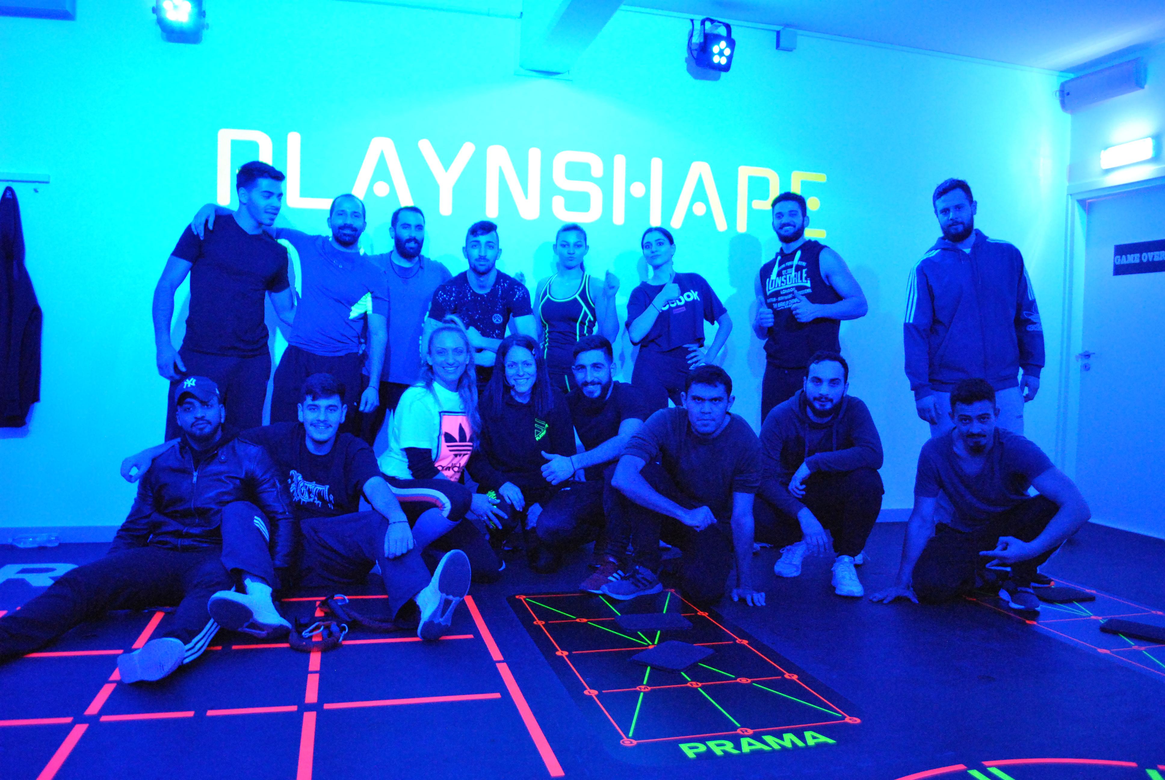 """Εκπαιδευτική επίσκεψη των φοιτητών του Προγράμματος """"Προσωπικός Προπονητής και Προπονητής Ομαδικών Προγραμμάτων Fitness"""" στο Play n Shαpe"""