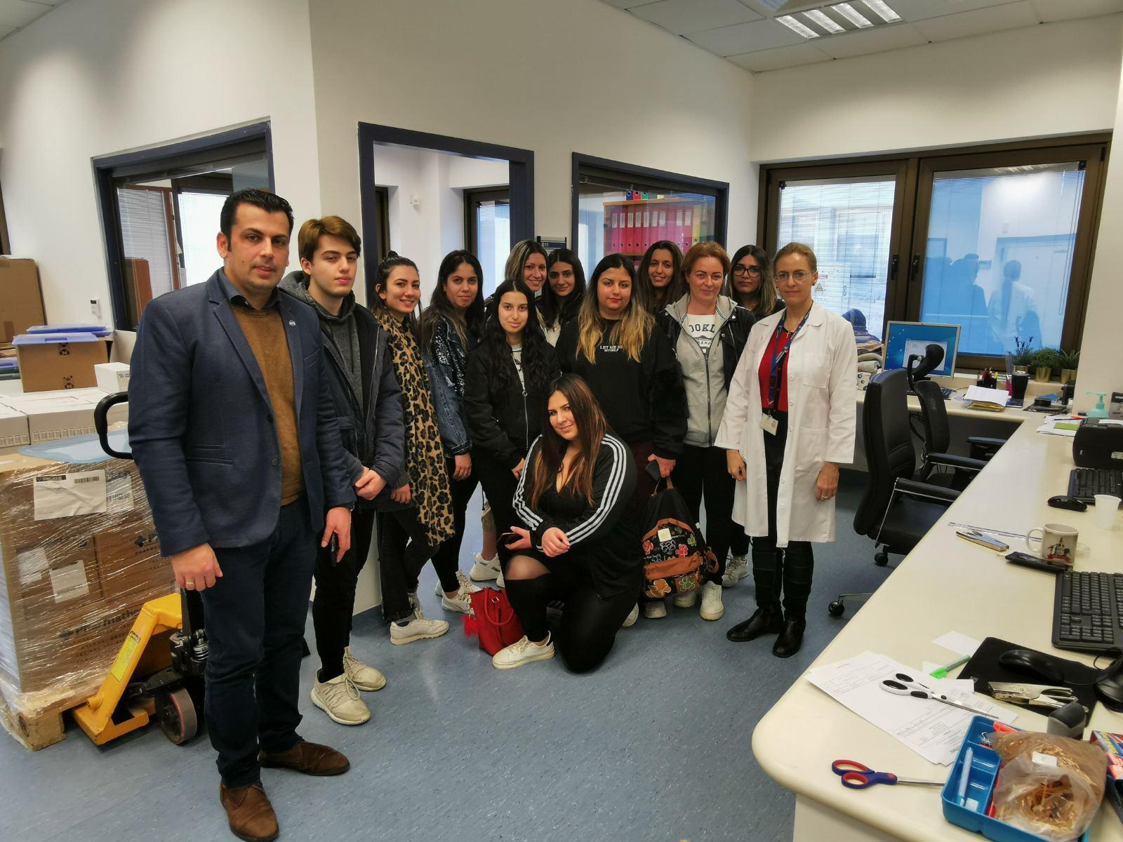 Εκπαιδευτική επίσκεψη των φοιτητών του Προγράμματος Σπουδών Βοηθοί (Τεχνικοί) Φαρμακείου στο Φαρμακείο του Ογκολογικού Κέντρου της Τράπεζας Κύπρου