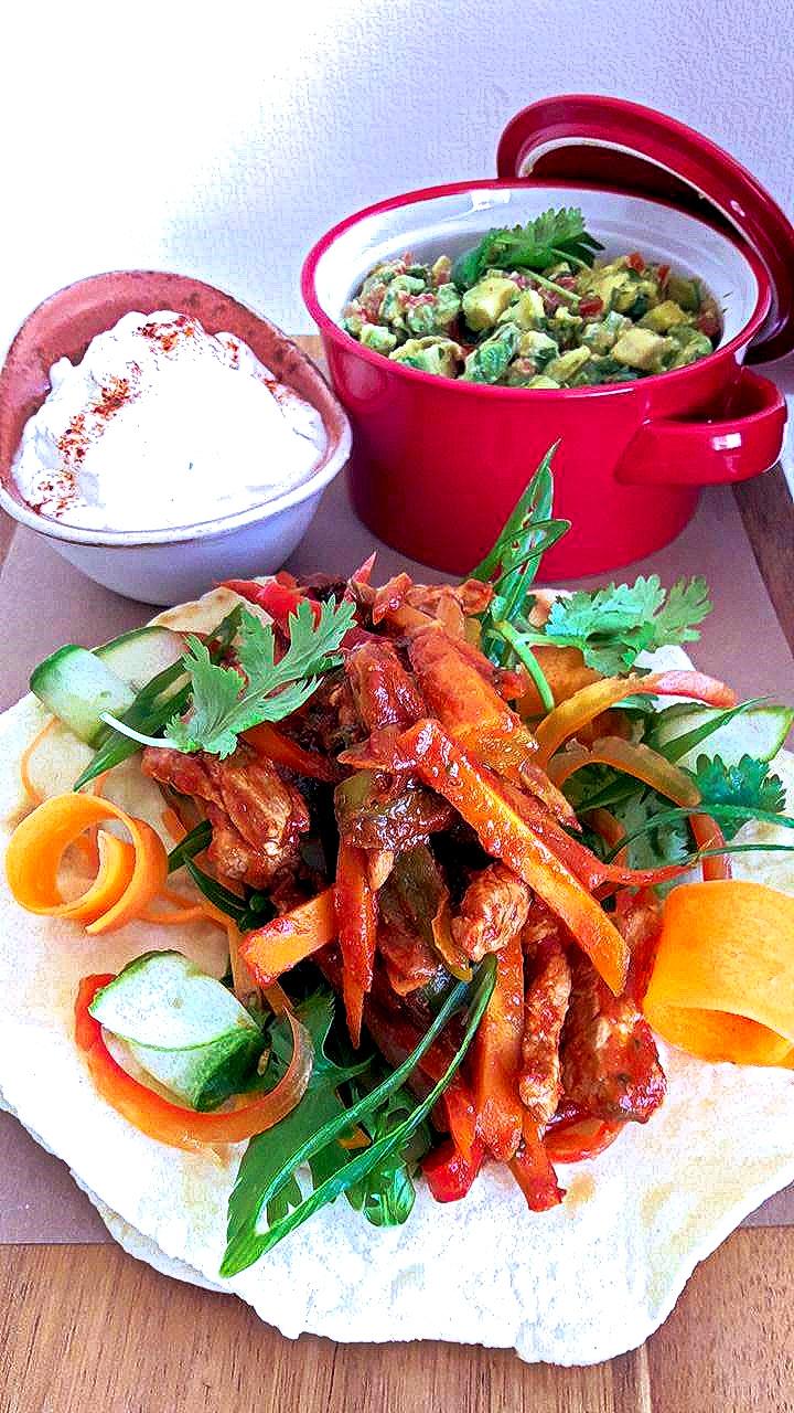Μεξικάνικες Τορτίγιες με Χοιρινό Φαχίτας